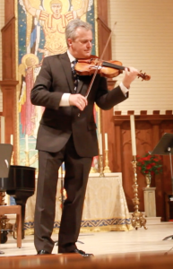Chalifour performing with violin 051516