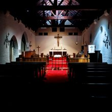 Interior of the Chapel Prepared for Evening Prayer