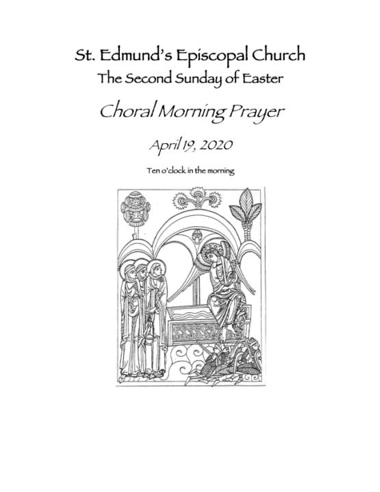 Easter 2 Bulletin